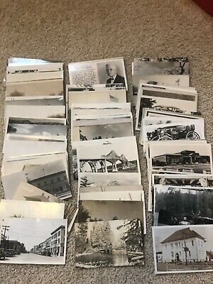 LOT OF 85 Antique / Vintage RPPC POSTCARDS  ALL U.S.  PLACES  CITIES  GREAT MIX