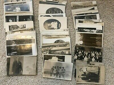 LOT OF 90 Antique / Vintage RPPC POSTCARDS  ALL U.S.  ALL PEOPLE  GREAT MIX