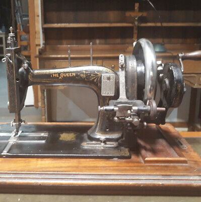 """For Restoration Antique Victorian """"The Queen"""" Hand Cranked Sewing Machine Singer"""