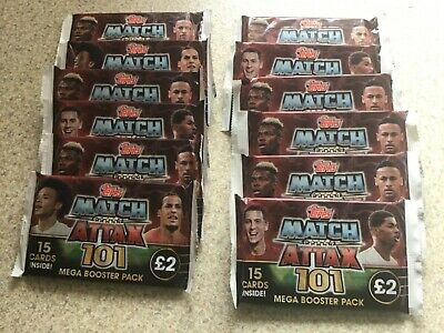 12 x Topps Match Attax 101 Mega Booster Pack. Season 2018/19. Brand New