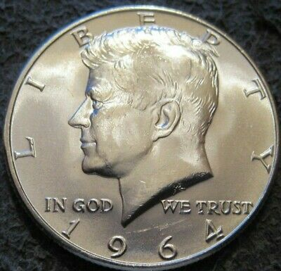 1964 P Uncirculated Kennedy Half Dollar // From Mint Set // Mc 802