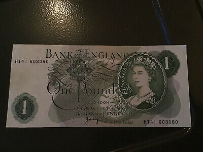 Old Bank Of England One Pound Note Lovely Note.