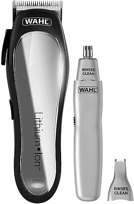 Wahl Black Power Clipper with Dual Head Ear and Nose Trimmer