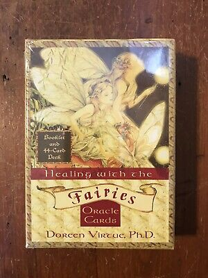 Healing with the Fairies-Oracle Cards-Doreen Virtue-44 Cards & Booklet-OOP-NEW
