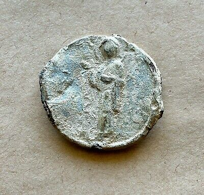 Byzantine lead seal with Mother of God Hagiosoreitissa/long inscription. Rare!