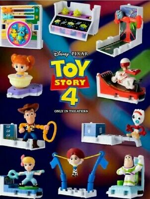 2019 MCDONALD'S 'TOY STORY 4' COMPLETE SET OF 10 HAPPY MEAL TOYS SEALED! RV Set!