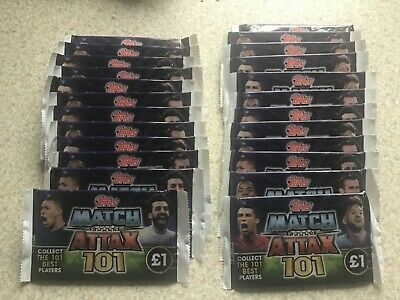 25 x Topps Match Attax 101. 7 Card Packs. Season 2018/19. Brand New