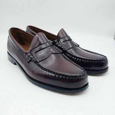 G.H. Bass Weejuns Burgundy Leather Penny Loafers Work Dress Shoes Mens SZ 10 D