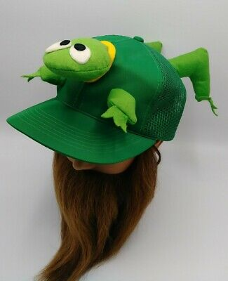 Vintage 1984 Novelty Frog Trucker Hat - Rare!