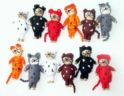 12  2 Inch Worry Doll Cats  from Guatemala.