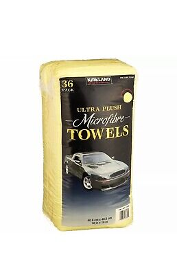 Microfibre Cloths Kirkland Signature Yellow Towels Ultra Plush 1 Pack 36 Towels