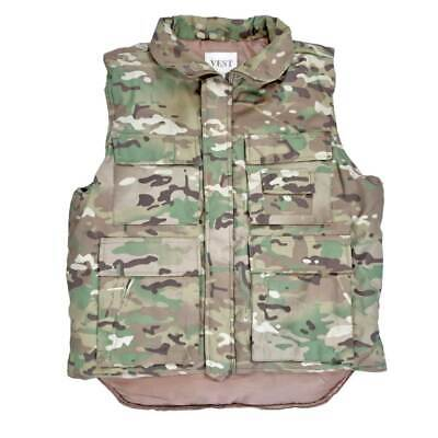 Army Body Warmer Padded Mens Vest Fishing Jacket Hunting Gilet Olive Green M-6XL