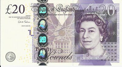 Bank Of England,20 Pounds-Unc (Chirs Salmon)