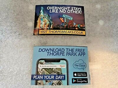 Thorpe Park 2 X Full entry Tickets Thursday 8th October 2020 RRP £110 8.10.20