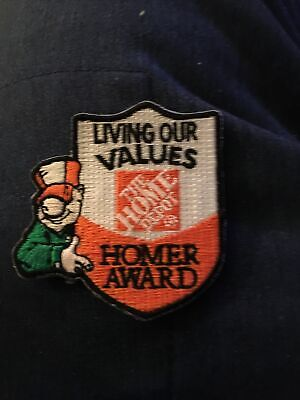 LMH Patch HOME DEPOT Living Our Values HOMER AWARD Employee Customer Service usd