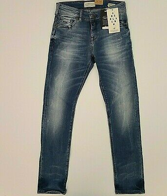 NWT Scotch Shrunk  & Soda Boys Size 10 Tigger Denim Medium Blue Jeans