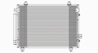 AC Condenser For 2003-2007 Cadillac CTS With Receiver Drier 19129982