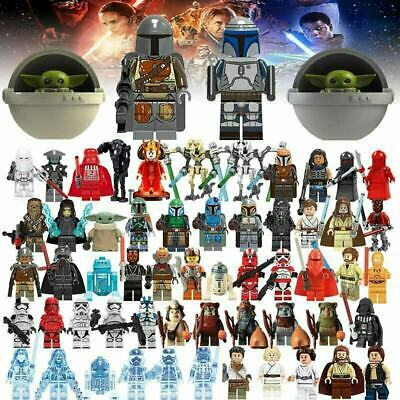 Lego Star Wars Minifigures Stormtrooper Darth Vader Yoda Obi Van Mandalorian New