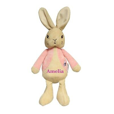 Personalise Embroidered Peter Rabbit Baby Grow and Matching bib Fast /& Free post