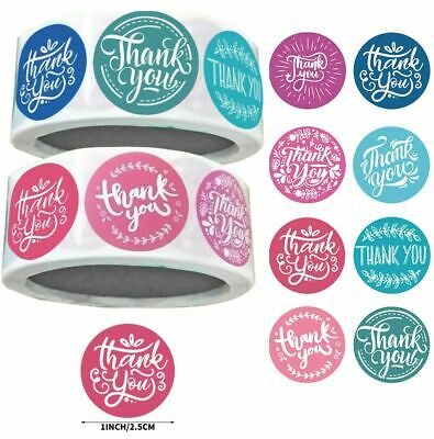Thank You Stickers Blue Green Pink Purple 4 Designs Party Fun Labels 25mm 0 99 Picclick Uk