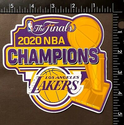"LOS ANGELES LAKERS 2020 NBA FINAL CHAMPIONS 5.5"" x 5 ...