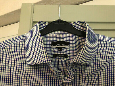 Mens Austin Reed Blue Gingham Check Shirt Size 18 Inches 4 99 Picclick Uk