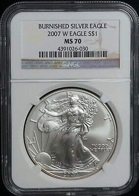 NGC 2007 W Burnished MS 70 American Silver Eagle One Dollar Coin | i