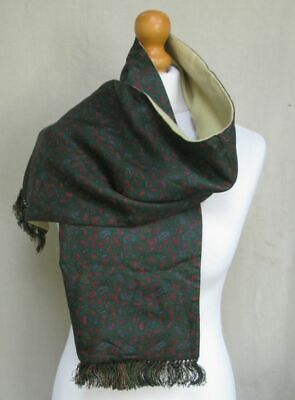 Vintage Austin Reed Paisley Green Silk Cashmere Wool Mod Scarf Men S Not Tootal 15 00 Picclick Uk