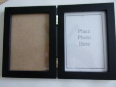 """Siena Double Border Plain Photo Picture Frame fits 2 2"""" x 3"""" Silver Hinged"""