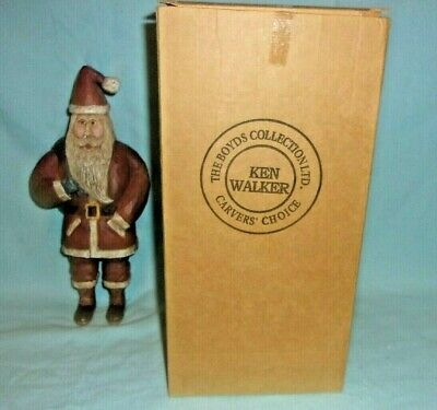 Boyds Bears Carvers Choice Ken Walker KAW Kennebunk Old World Santa Ornament