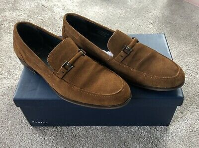 HOWICK MENS TAN Suede Snaffle Loafer