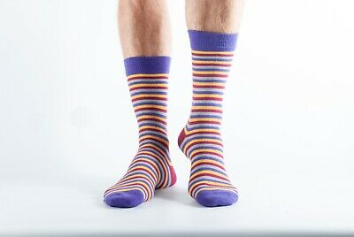 Bamboo Organic Cotton Super Soft Socks in Pink with Stripes Doris and Dude
