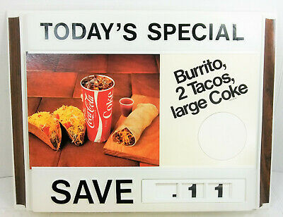 Minty Grilled Cheese Double sided Vintage Coca Cola Die-Cut Cardboard Sign