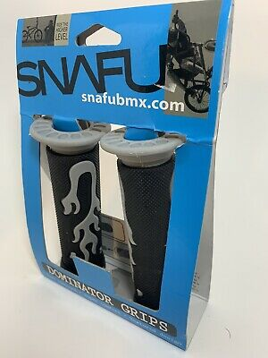 SNAFU Dominator Bicycle Grips Black and Gray