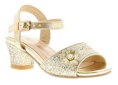 Princess Stardust Samara Girls Synthetic Material Strappy Gold