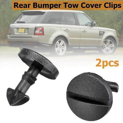 2x Rear Bumper Tow Cover Clip Towing Eye Trim DYR500010 For Land Rover  NEW