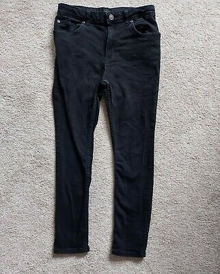 Boys River Island Skinny Jeans denim 11yrs black stretch casual smart vgc