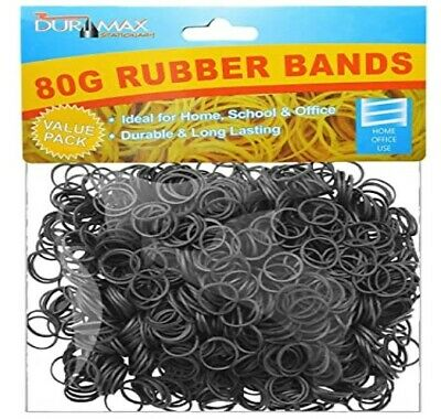 black Strong Elastic Rubber Bands for Home School Office good elasticity 500pcs