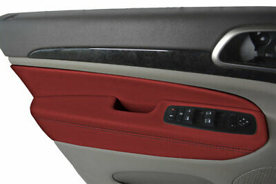Armrest Door Panel Cover Leather for Jeep Grand Cherokee 11-19 Red Black Stitch
