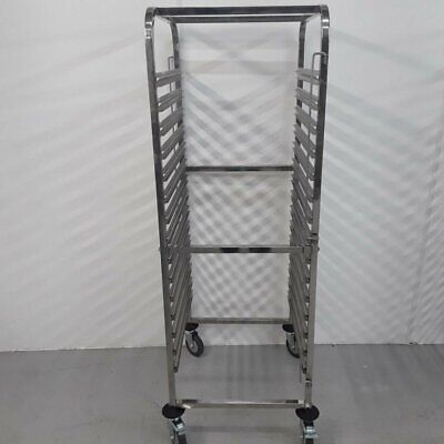 Commercial Gastro Trolley Double Rack Shelves Stand Vogue