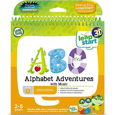 Leap Frog 3D Alphabet Adventures with Music Activity Book for Leap Start, Age 2+
