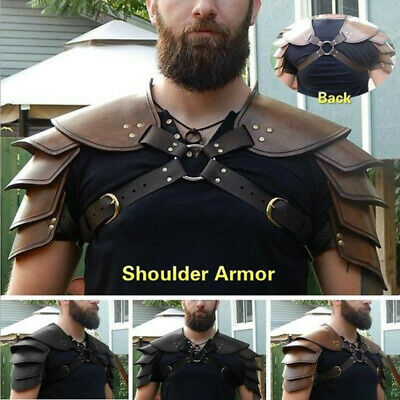 Medieval Shoulder Armor Gladiator Samurai Battle Knight Pauldrons Viking Costume
