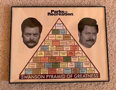 Parks & Recreation - Framed Swanson Pyramid of Greatness Poster 11x14
