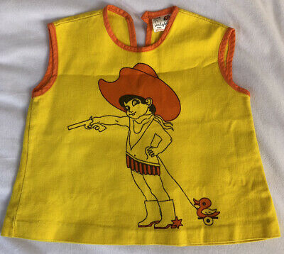Vintage Retro Ladybird Girls Top Age 12 Months 1 Year Height 80cm Cowgirl