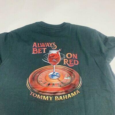 """Tommy Bahama /""""Call For Backup/"""" Black T-Shirt XLT NWOT 3 Available $45 MSRP"""