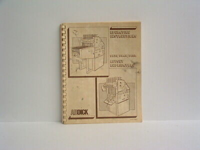 AB Dick Operation Manual for 9835 / 9840 / 9850 printing press  (Free Shipping)