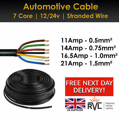 12V 24V 2//3//4//7 Core Automotive Cable Marine Round Wire Thinwall DC Twin Wiring