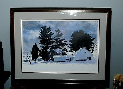 Moonscape and Moon Over Hillen by Peter Sculthorpe Winter Moon House 2 Prints