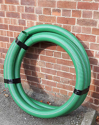 PVC Hose Medium Duty Suction Delivery Hose Green Price Per Metre Free Postage