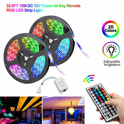 50ft 32ft Fairy LED Strip Lights RGB 5050 With Remote Color Changing Kits White